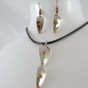 Mite-Frizz Necklace w/ Earrings Combo – Nickel w/ Copper Accents
