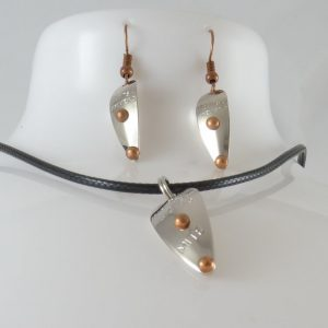 Mitey-Mite Necklace w/ Earrings Combo – Nickel w/ Copper Accents