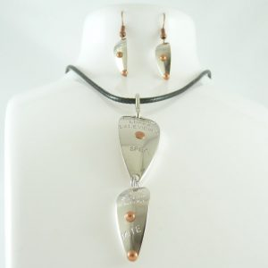 Specialist-Mite Necklace w/ Earrings Combo – Nickel w/ Copper Accents