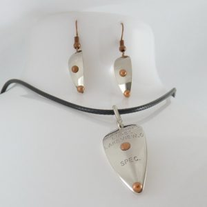 Specialist Necklace w/ Earrings Combo – Nickel w/ Copper Accents
